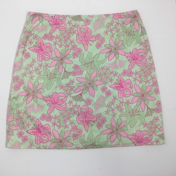 Lilly Pulitzer Dresses & Skirts - Lilly-Pulitzer-Womens-Size12-Pink-and-Green-Skirt
